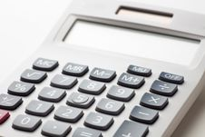 Calculator Buttons Stock Photo