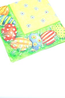 Free Easter Coloured Napkin Royalty Free Stock Image - 7824066