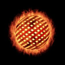 Free Fragmentation Sphere In Fire, On Black Royalty Free Stock Image - 7824166