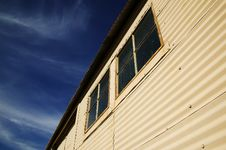 Windows On A Metal Building Stock Images