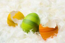 Easter Eggs Broken Royalty Free Stock Image