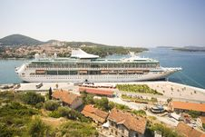 Free Large Vessel In Dubrovnik Harbour Stock Photo - 7824800