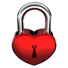 Free Heart Shape Padlock Stock Image - 7825161