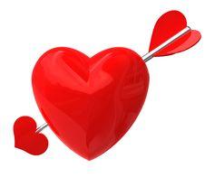 Free Heart Pierced By An Arrow Stock Image - 7825181