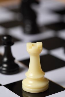 Free Chess White Rook Royalty Free Stock Images - 7825299