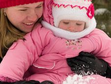 Free Mother And Daughter At Winter Stock Photo - 7825390