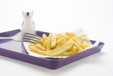 Bowl Of Homemade Chips Royalty Free Stock Photos
