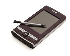Pocket PC Isolated Stock Photo