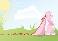 Pink Bunny Stock Images