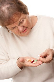 Free Attractive Senior Woman And Pills Stock Photos - 7826483
