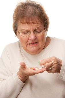 Free Attractive Senior Woman And Pills Stock Images - 7826484