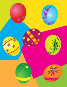 Free A Set Of Easter Eggs Stock Photo - 7826730