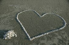 Free St.Valentines Shell Heart Stock Photography - 7827192