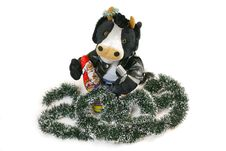 Free Singing Toy Bull And 2009 Stock Images - 7827274