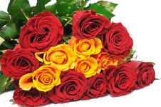 Free Big Bouquet Roses Royalty Free Stock Photo - 7828205