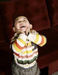 Free Boy Laughing Upward Royalty Free Stock Images - 7828249