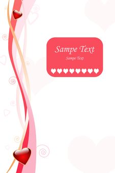 Love Greeting Card Royalty Free Stock Photography