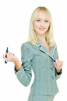 Free Blonde Business Lady Royalty Free Stock Images - 7828469