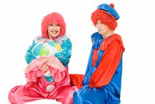 Free Couple Of Clowns Royalty Free Stock Photos - 7828478