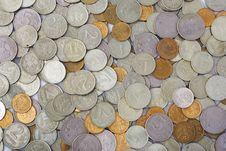 Free Bunch Of Coins On White 2 Stock Images - 7828614