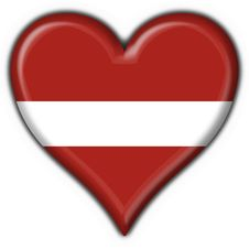 Free Latvia Button Flag Heart Shape Stock Photos - 7829053