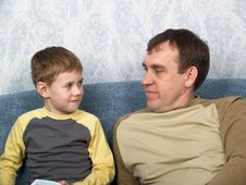 Free Daddy With The Son Stock Image - 7829221