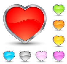Free Hearts Icons Stock Photography - 7829222