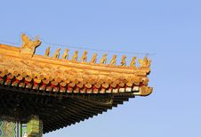 Royal Golden Roof On The Imperial Palace Stock Images