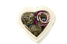 Free Heart Box With Jewelry Royalty Free Stock Image - 7829846