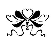 Free Floral Vector Tattoo Royalty Free Stock Photo - 7830185