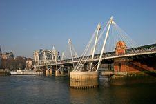 Free Hungerford Bridge, London Stock Photography - 7830922