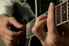 Free Musician Playing Guitar Stock Photos - 7830983