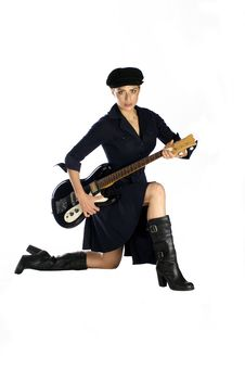 Guitar Musician Royalty Free Stock Photography
