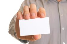 Free Business Man Holding Visiting Card Royalty Free Stock Photography - 7831497