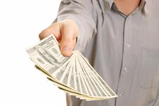 Free Hand With Dollars Stock Photo - 7831550