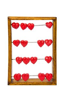 Free Abacus With Red Hearts Stock Photos - 7831553