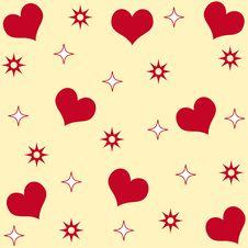 Hearts And Stars Royalty Free Stock Photo