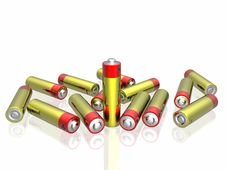 Free 3d Batteries Royalty Free Stock Images - 7831989