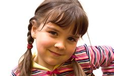 Closeup Portrait Of A Young Girl. Royalty Free Stock Photos