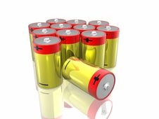 Free 3d Batteries Stock Photography - 7832062
