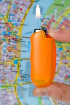 Free Close-up Of Lighter Stock Photo - 7832150