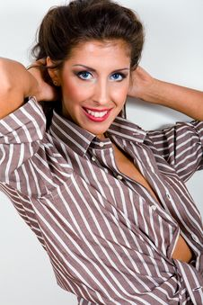 Free Classical Portrait Of Young Woman In Shirt Stock Photography - 7833002