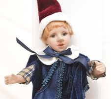 Free Detailed Home Made Blonde Hair Porcelain Pinocchio Stock Image - 7833051