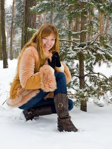 Free Winter Girl Royalty Free Stock Photography - 7833477