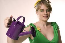 Free Lady The Spring Stock Images - 7833704