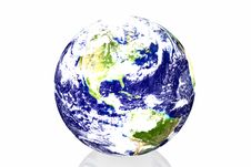 Free Earth In White Background Stock Images - 7834264
