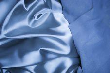 Texture Of A Blue Silk Royalty Free Stock Photos