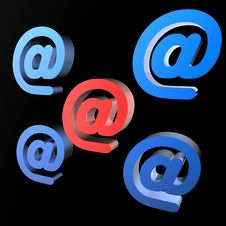 Free Email Symbol Royalty Free Stock Photo - 7834485