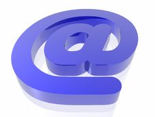 Free Blue Email Symbol Royalty Free Stock Photo - 7834615