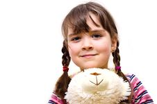 Closeup Portrait Of A Young Girl. Stock Photography